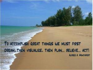 Visualisation-quote-on-beach